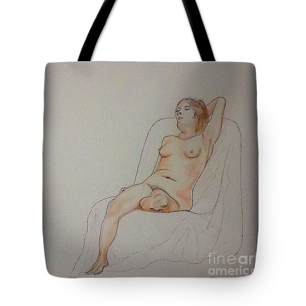 Nude Life Drawing Tote Bag