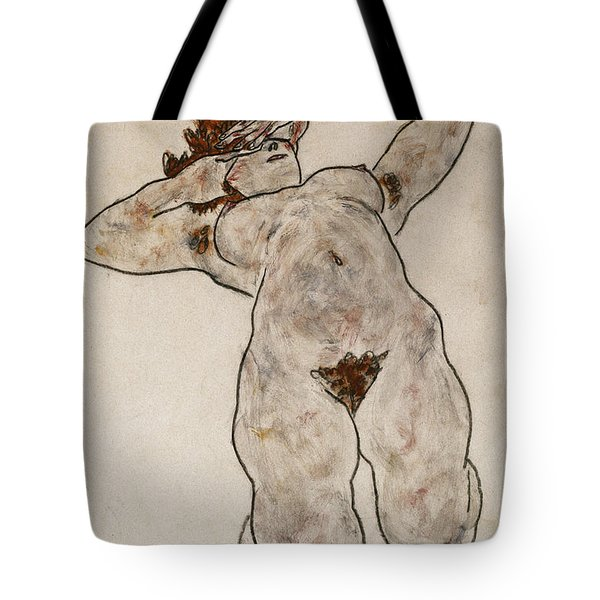 Nude Lying Down Tote Bag by Egon Schiele