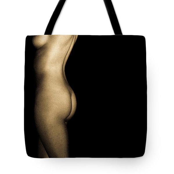 Nude On Black Tote Bag by Bob Orsillo