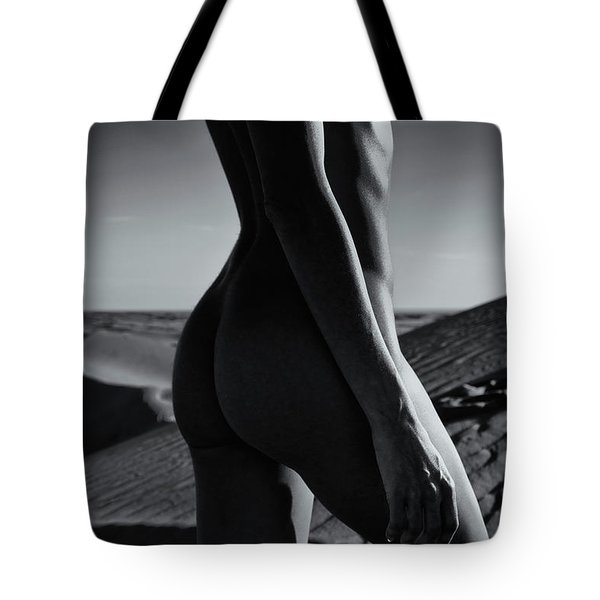 Nude On Desert Sandy Dunes Tote Bag