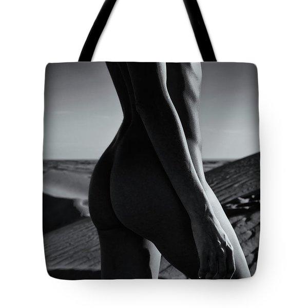 Nude On Desert Sandy Dunes Tote Bag