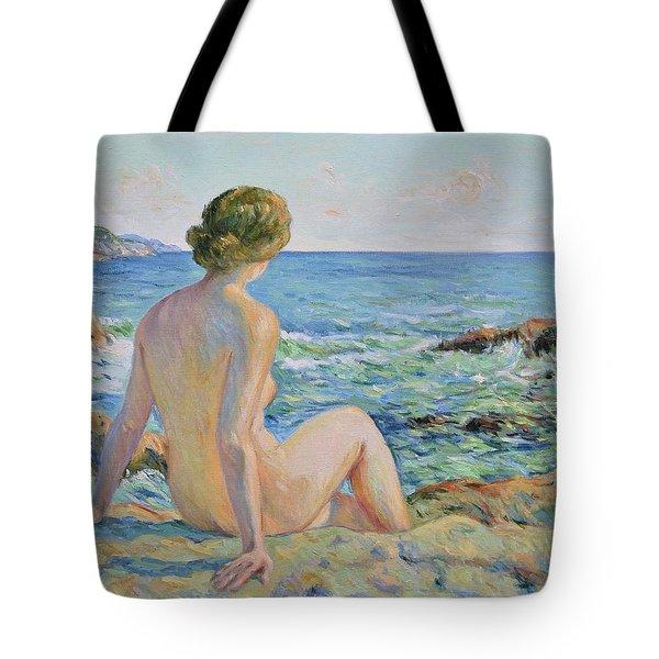 Nude On The Coast Monaco Tote Bag