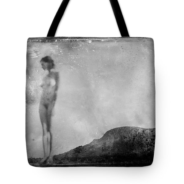 Tote Bag featuring the photograph Nude On The Fence, Galisteo by Jennifer Wright