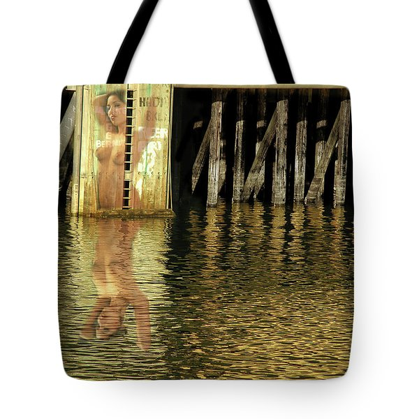 Nude Reflection Tote Bag by Harry Spitz