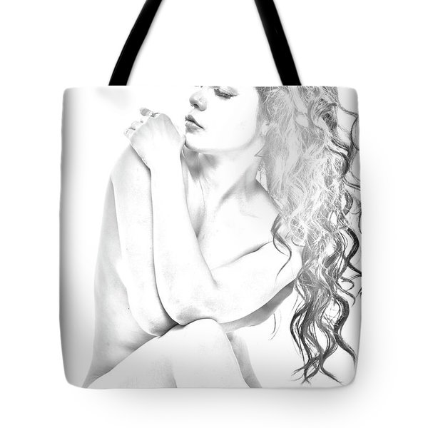 Nude Sketch Tote Bag