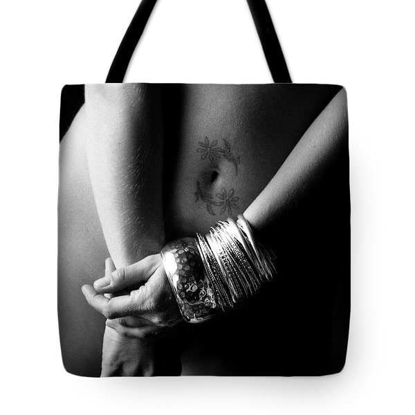 Tote Bag featuring the photograph Nude Tattoo And Bangles by Jennifer Wright