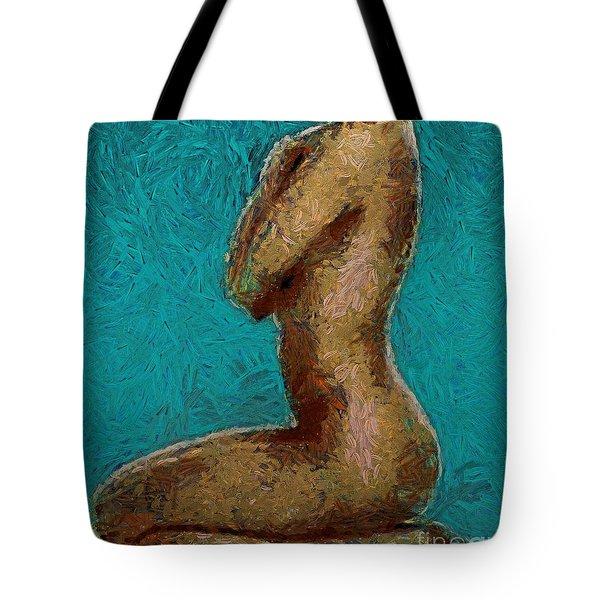 Nude Turquise Tote Bag
