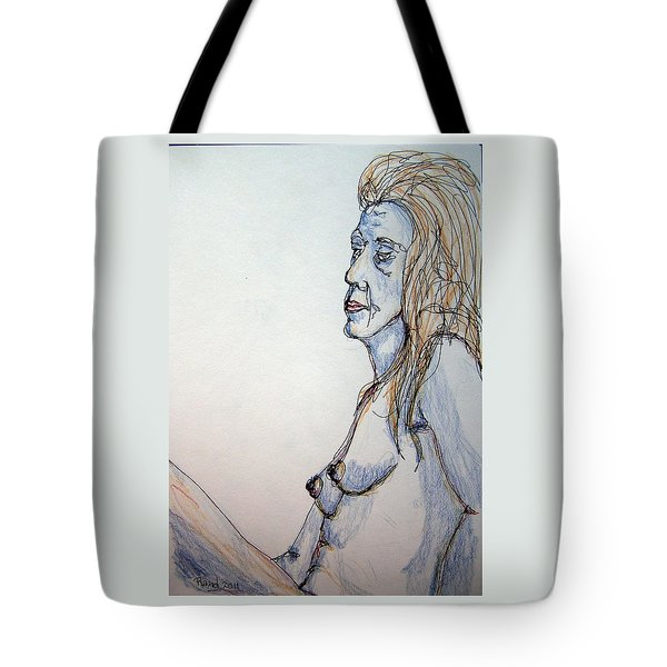 Nude With Blues Tote Bag by Rand Swift