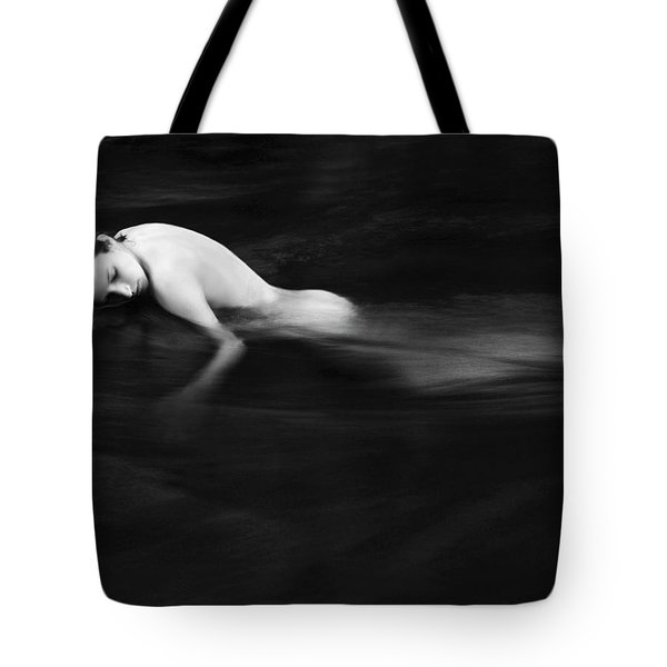 Nude Woman In River Tote Bag by Monica and Michael Sweet - Printscapes