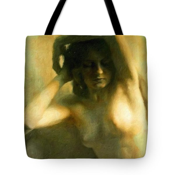Nude Woman Tote Bag by Vincent Monozlay