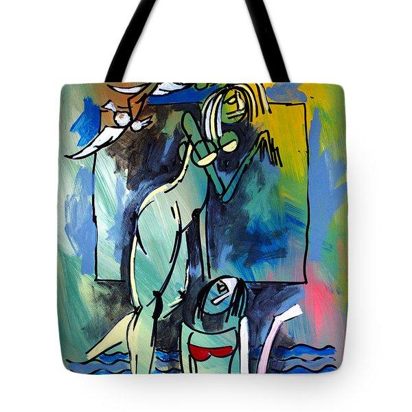 Nude Women On Beach Tote Bag