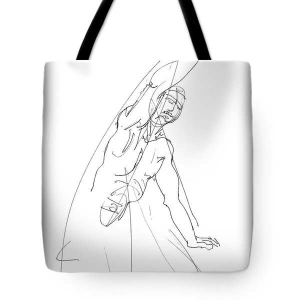 Nude_male_drawing_25 Tote Bag
