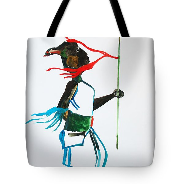 Nuer Dance - South Sudan Tote Bag by Gloria Ssali