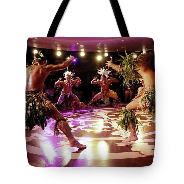 Nuku Hiva Dancers Tote Bag