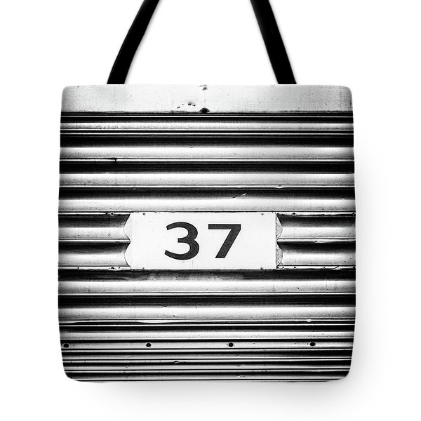 Number 37 Metal Square Tote Bag by Terry DeLuco