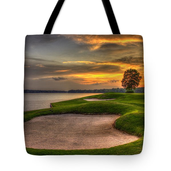 Tote Bag featuring the photograph Number 4 Sunset Traps Reynolds Plantation by Reid Callaway