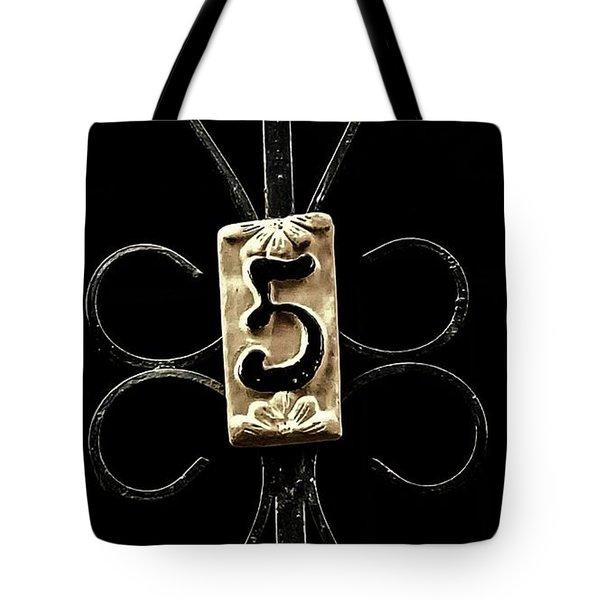 Number 5 Tote Bag by Bruce Carpenter