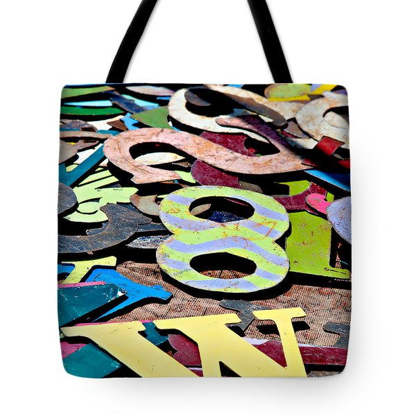 Tote Bag featuring the photograph Number 8 by Art Block Collections