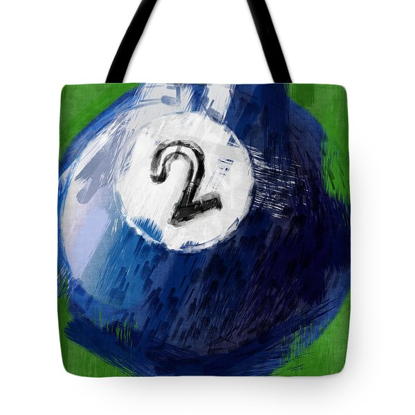Number Two Billiards Ball Abstract Tote Bag by David G Paul