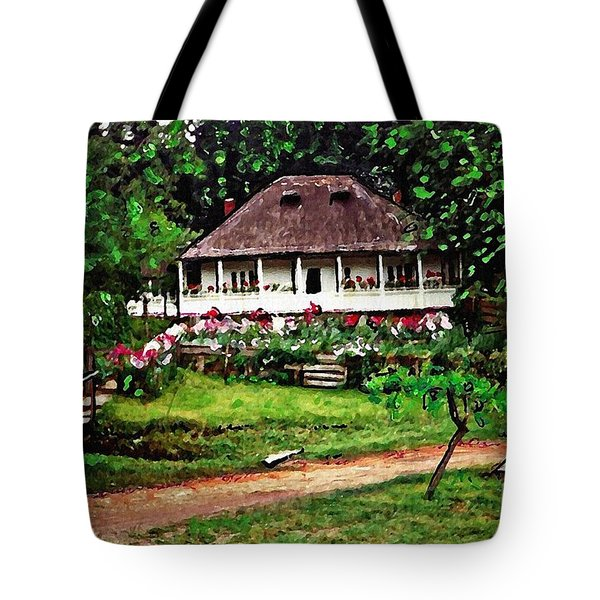 Nuns' House In Agapia Tote Bag by Sarah Loft