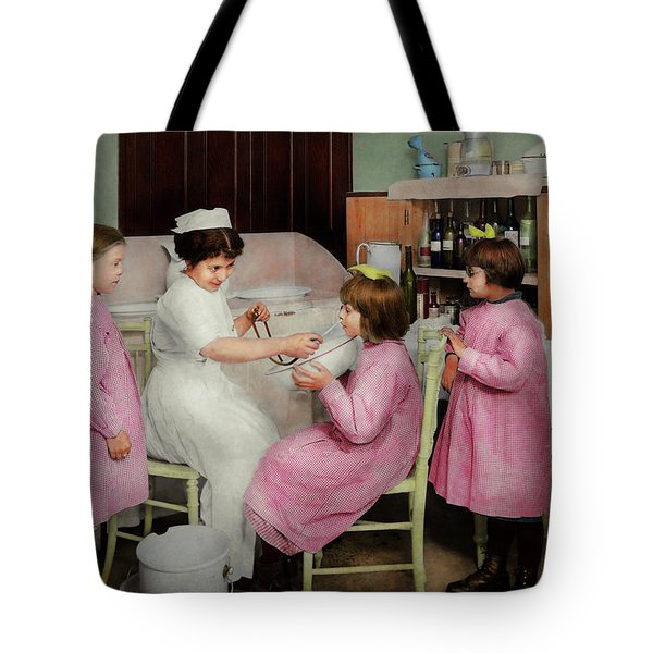 Tote Bag featuring the photograph Nurse - Playing Nurse 1918 by Mike Savad