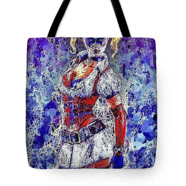 Tote Bag featuring the mixed media Nurse Harley Quinn by Al Matra