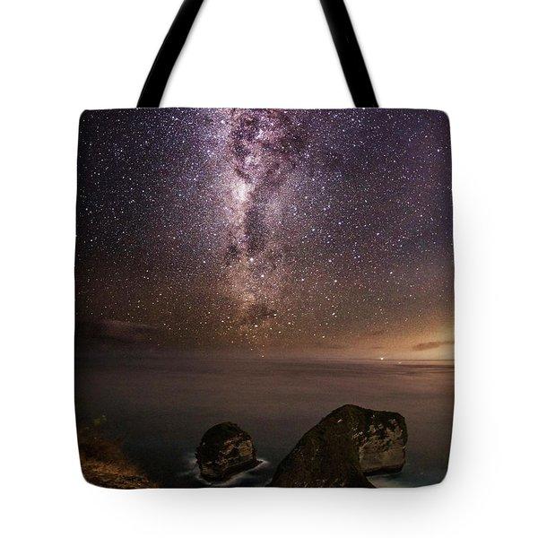Tote Bag featuring the photograph Nusa Penida Beach At Night by Pradeep Raja Prints