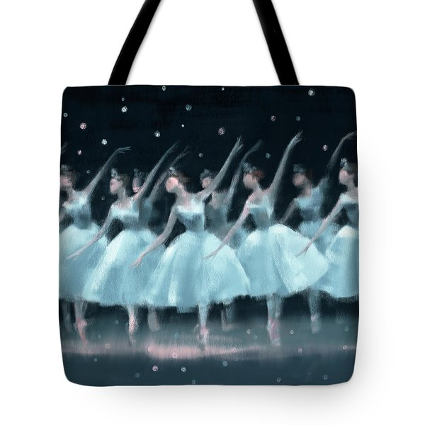 Nutcracker Ballet Waltz Of The Snowflakes Tote Bag