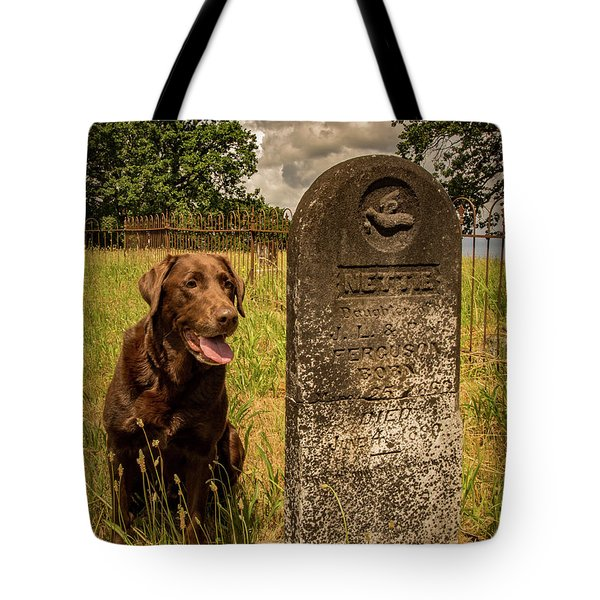 Tote Bag featuring the photograph Nute In The Cemetery by Jean Noren