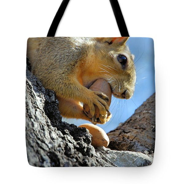 Tote Bag featuring the photograph Nutjob by Debbie Karnes