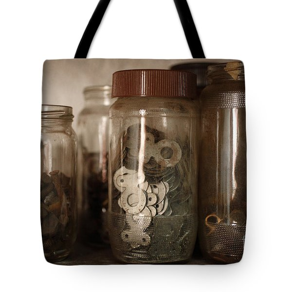 Nuts And Bolts Tote Bag by Gaspar Avila
