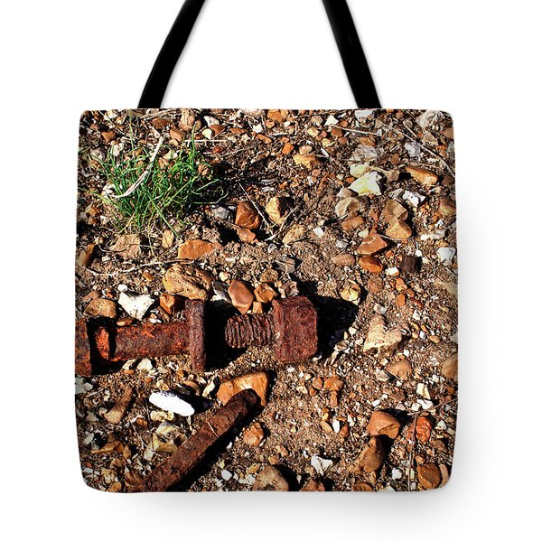 Nuts And Bolts Rusted Tote Bag by Douglas Barnett