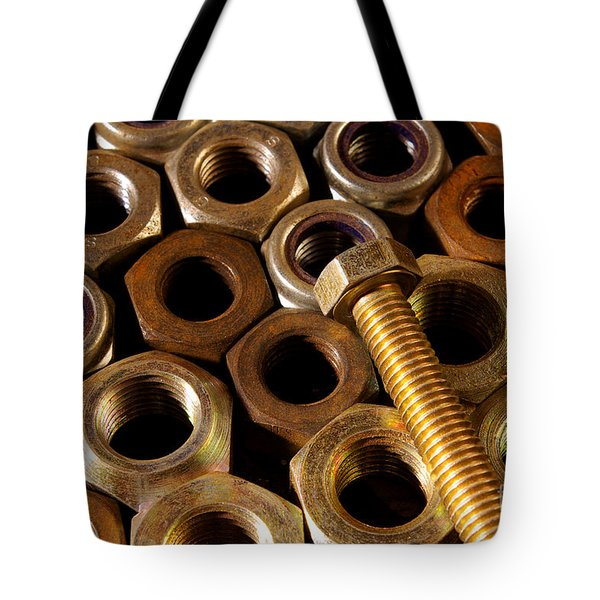 Nuts And Screw Tote Bag by Carlos Caetano