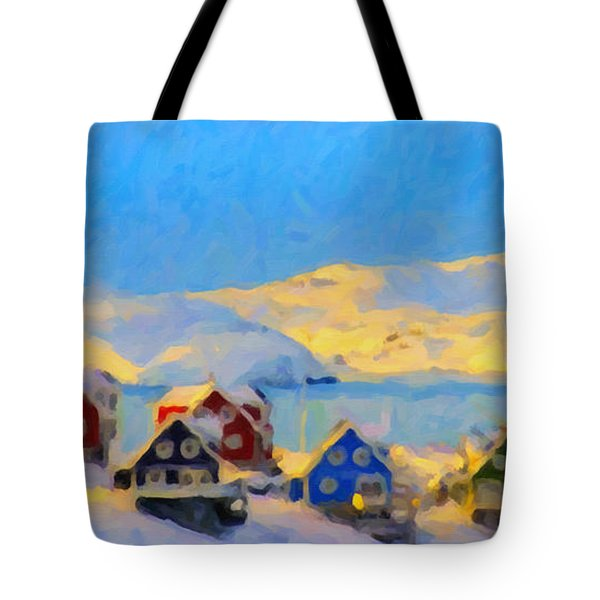 Nuuk, Greenland Tote Bag by Chris Armytage