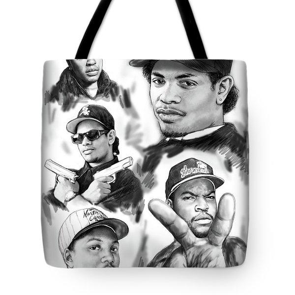 N.w.a. Drawing Art Poster Tote Bag