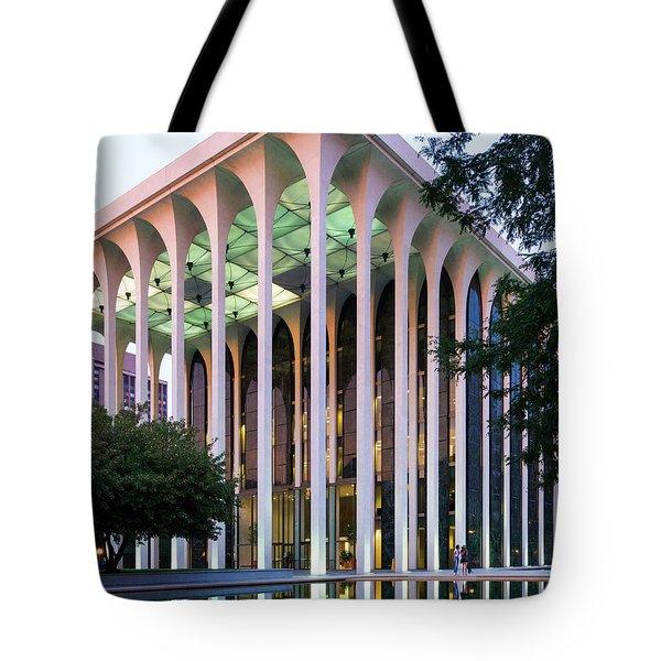 Nwnl Building At Dusk Tote Bag