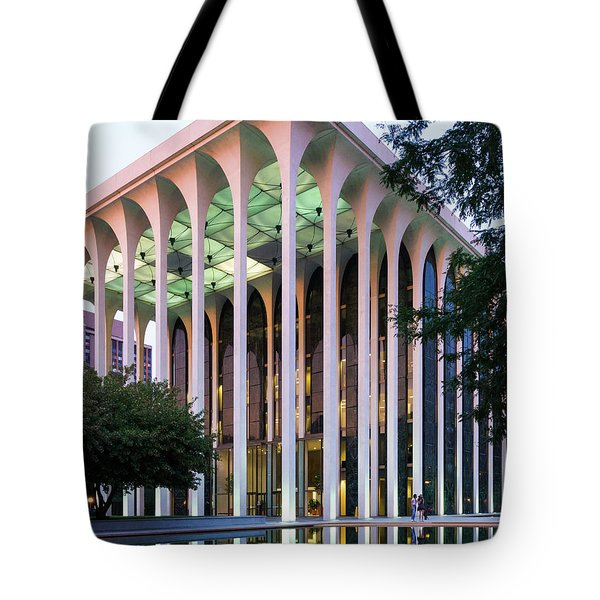 Nwnl Building At Dusk Tote Bag