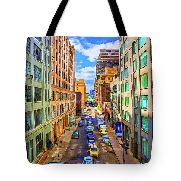Ny City Strreet Tote Bag