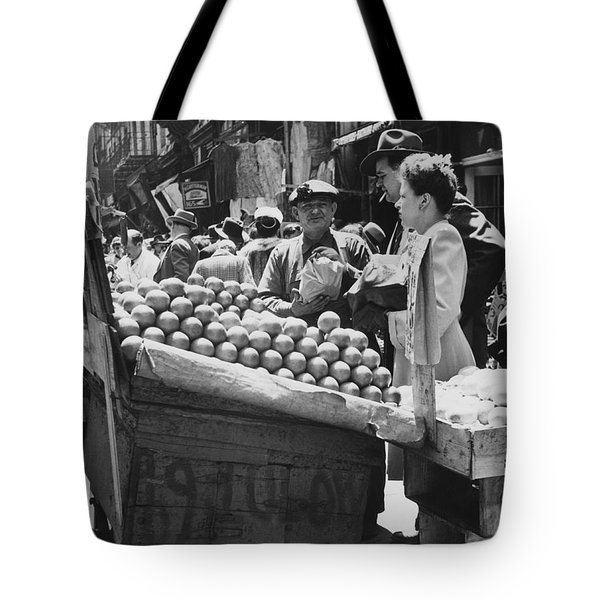 Ny Push Cart Vendors Tote Bag by Underwood Archives