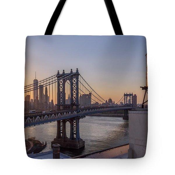 Ny Sunset  Tote Bag