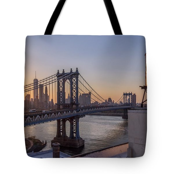 Ny Sunset  Tote Bag