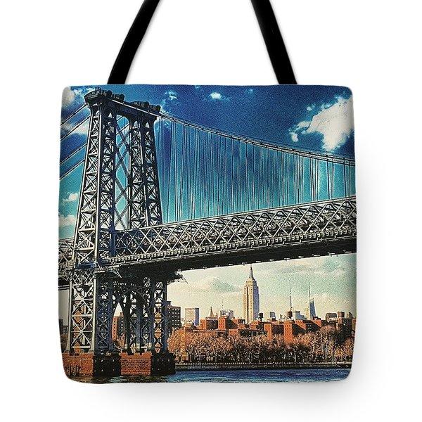 Verrazano Bridge Color Tote Bag