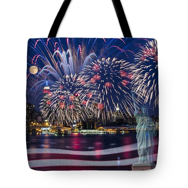 Nyc Fourth Of July Celebration Tote Bag