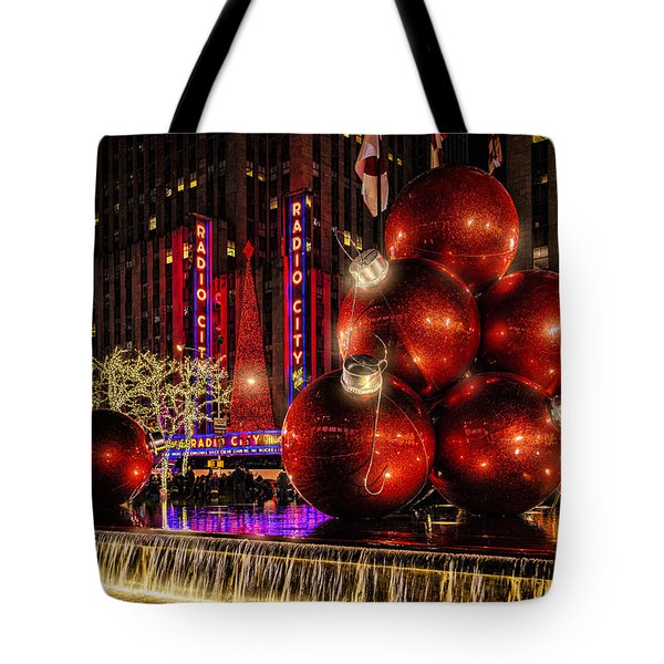 Tote Bag featuring the photograph Nyc Holiday Balls by Chris Lord