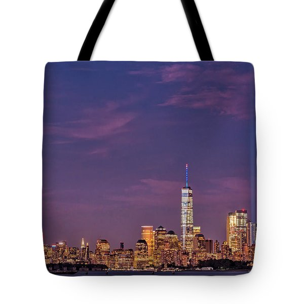 Tote Bag featuring the photograph Nyc  Landmarks Wtc Tribute In Light by Susan Candelario