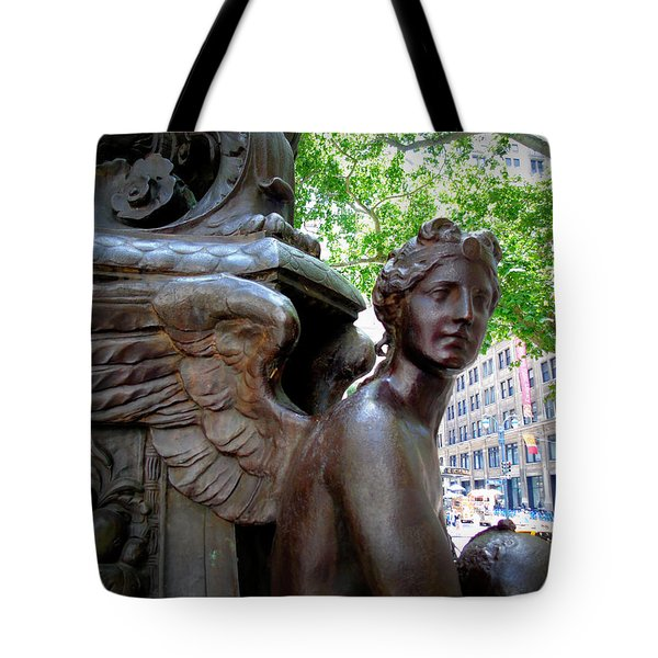 Nyc Library Angel Tote Bag
