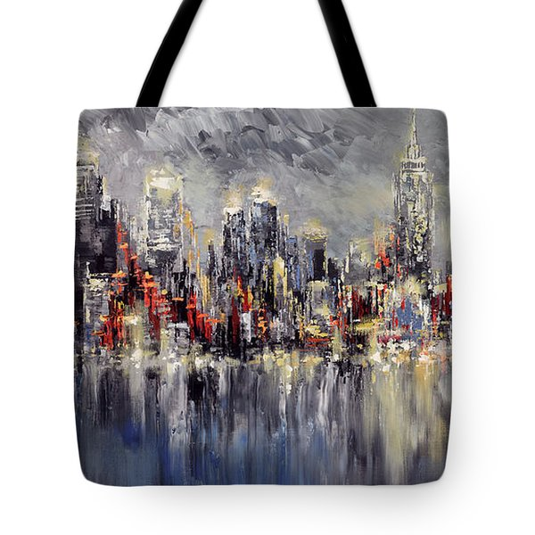 Nyc Lights Tote Bag