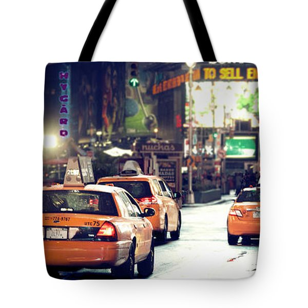 New York City Night Drive Tote Bag