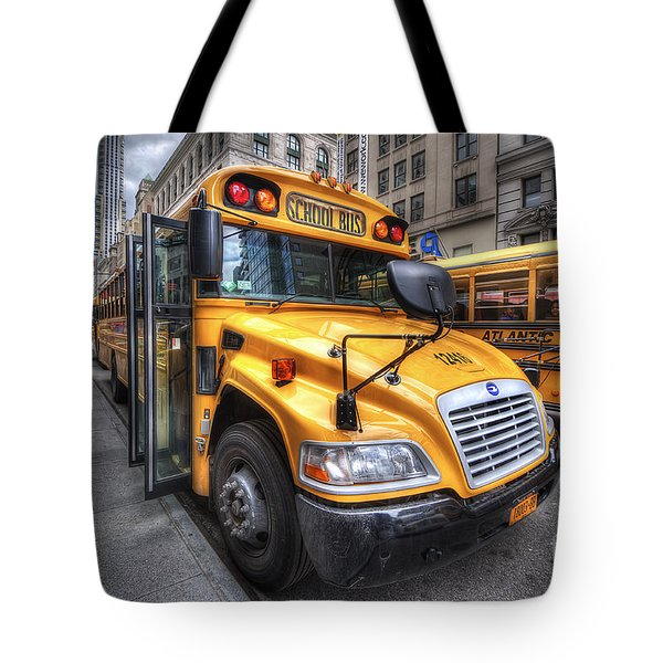 Nyc School Bus Tote Bag