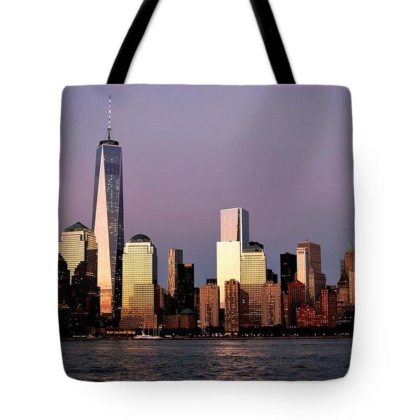 Nyc Skyline At Dusk Tote Bag